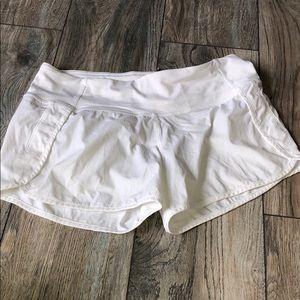 White Lululemon Athletica Shorts